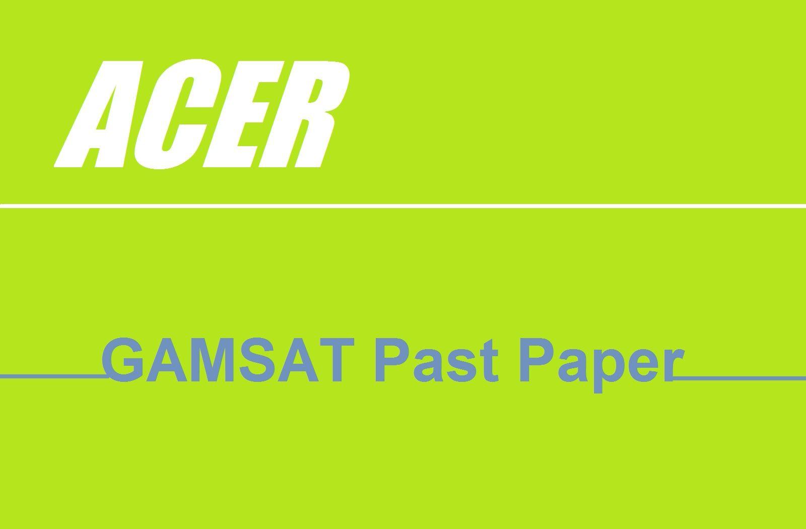 GAMSAT Past Paper