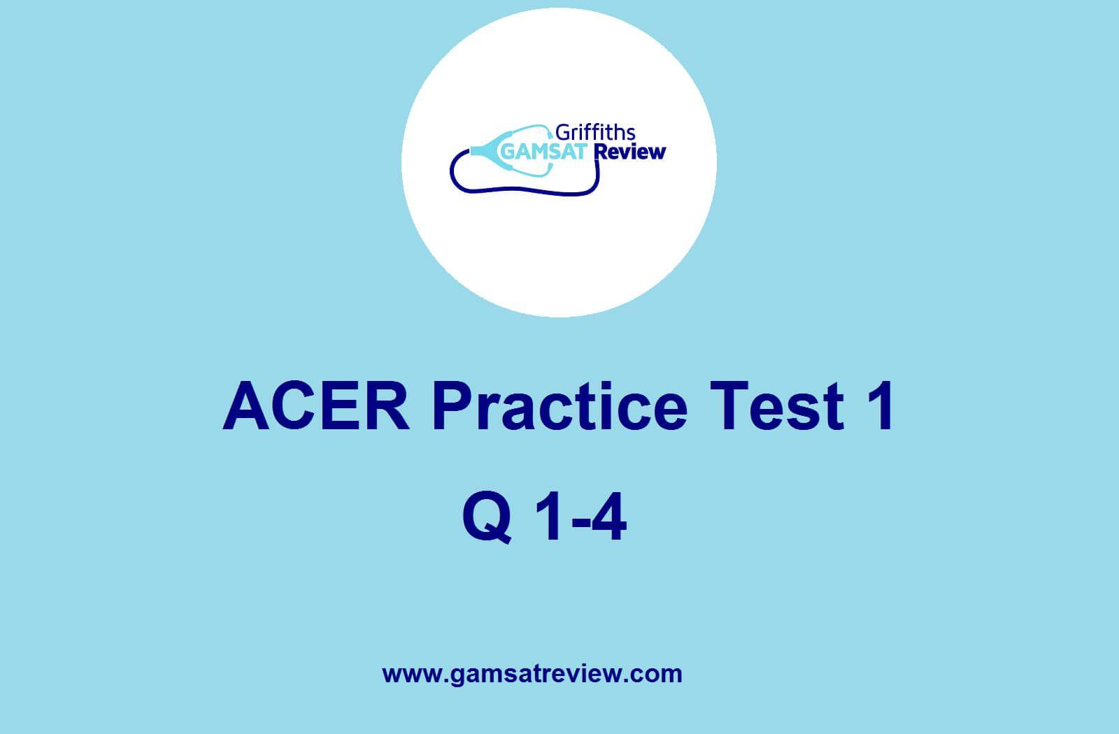 Gamsat Practice Test 1 Solutions