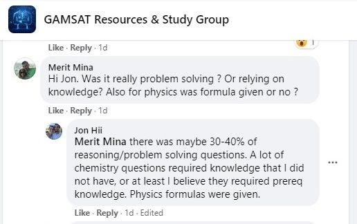 Gamsat isn't all reasoning