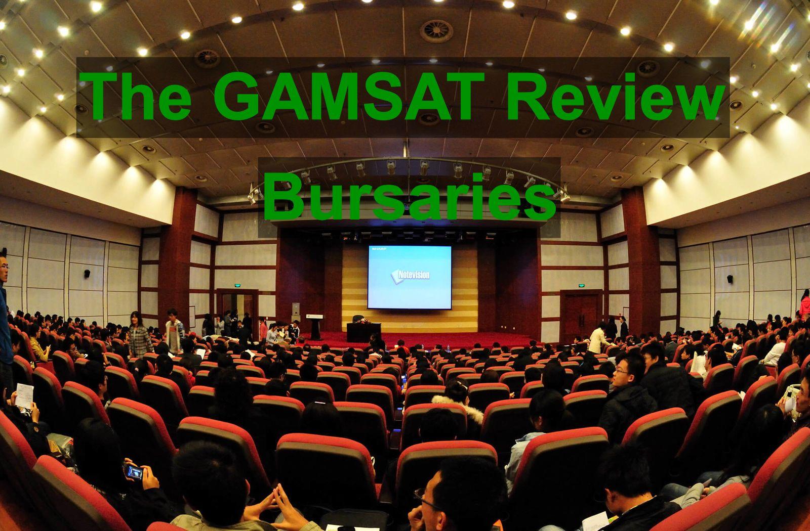 The Gamsat Review Bursary