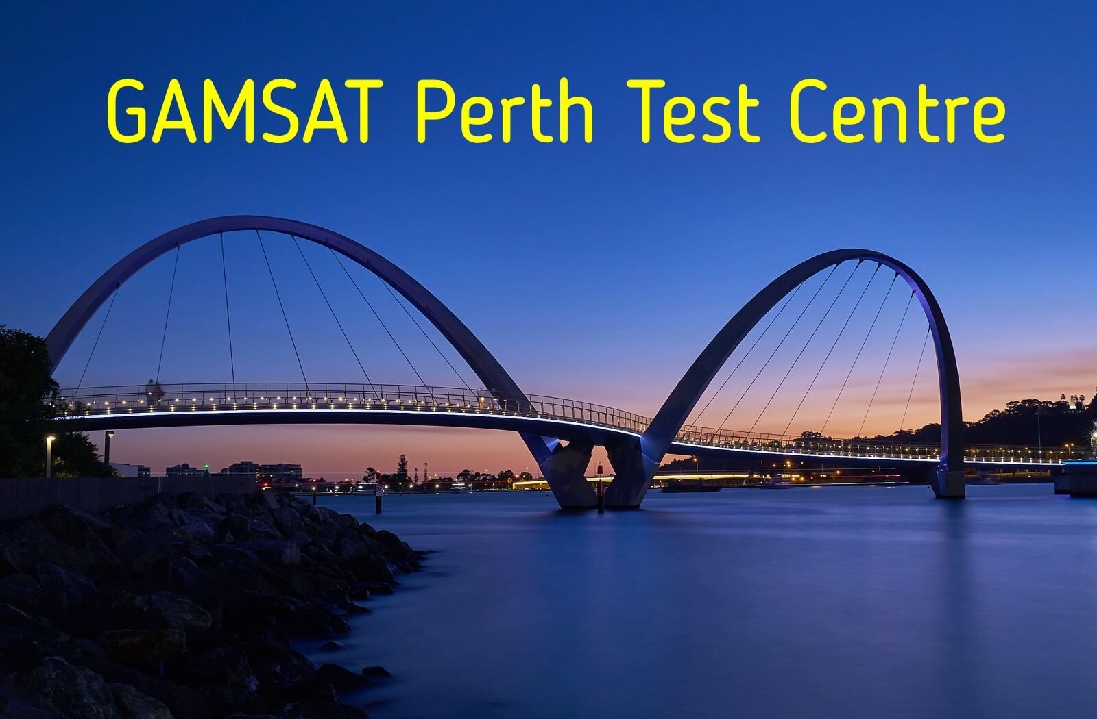 Where is GAMSAT held in Perth?